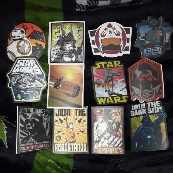12 Star Wars Stickers lot 《New》